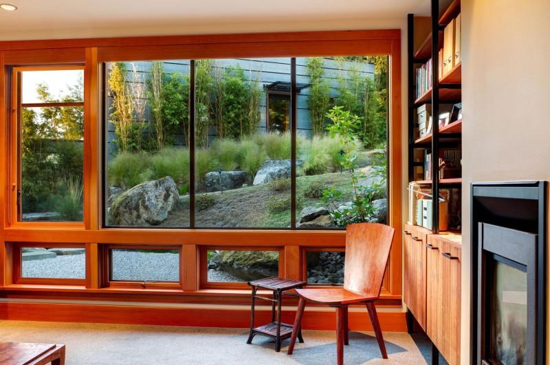 در و پنجره چوب آلومینیوم