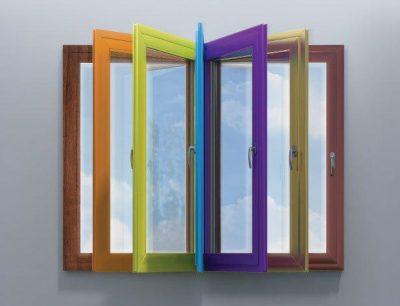 پنجره دوجداره رنگی