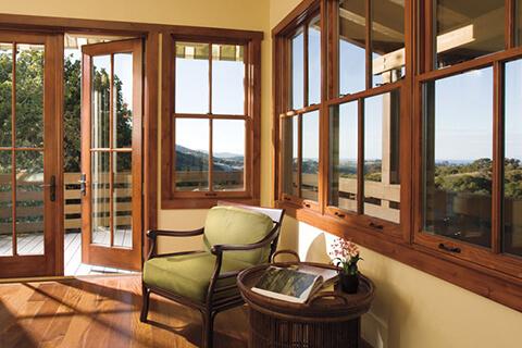 در و پنجره دوجداره تمام چوب